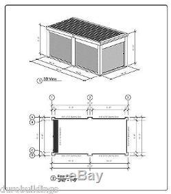 Kit De Rangement Duro Structure De Bâtiment En Acier Portable Préfabriquée En Métal 10x20x8.5 Direct