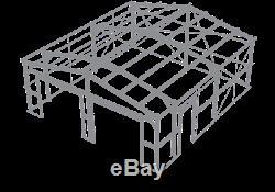 Métal Bâtiment 2 Garage En Acier Kit, Ameribuilt Steel Structures 576 Sq