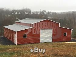 Metal-barn-40 X 36 X 12 En Acier Bâtiment Agricole Garage-delivery-setup