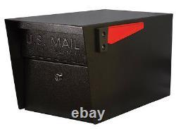Nouveau! Noir Courrier Patron 7506 Mail Manager En Acier Curbside Verrouillage Boîte Aux Lettres De Sécurité
