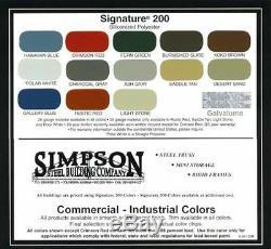 Simpson Acier Pour La Construction 36x60x16 Garage Stockage Boutique En Métal Grange Kit De Construction