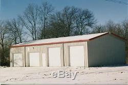 Simpson De Construction En Acier 24x24x10 Garage Stockage Boutique Kit De Construction En Métal