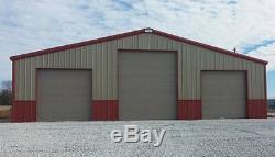 Simpson Steel Garage 40x75x12 Garage Kit De Stockage Grange Atelier Bâtiment En Métal