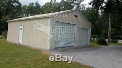 Steel 2 Garage Garage Carport Atelier 24x26x9 Bâtiment Métallique Configuration De Livraison Gratuite