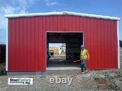 Steel Factory Mfg 24x24x12 Galvanized Steel Metal Storage Garage Building Kit