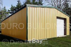 Structure De Bâtiment De Garage À Claire-voie Préfabriquée En Acier Durobeam, Acier 30x50x11