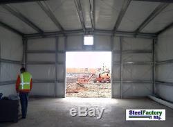 Trame En Acier I-beam Trame Préfabriquée En Métal De Construction De Garage De La Grange Métallique Ibx 30x60x14