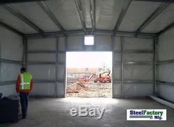 Trousse De Matériaux De Construction De Garage Préfabriquée En Métal Du Garage Ibeam Du Cadre I-beam En Acier 30x60x14