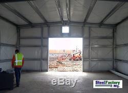 Usine En Acier Mfg 30x50x14 Auto Garage Garage Style Metal Building Bâtiment