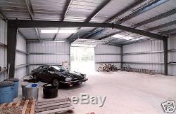Usine Sidérurgique Mfg 40x60x14 Bâtiment De Garage De Stockage D'atelier D'i-faisceau En Métal De Cadre