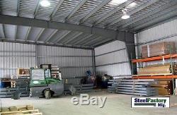 Usine Sidérurgique Mfg 50x75x14 Bâtiment De Garage De Stockage D'atelier D'i-faisceau De Cadre En Métal