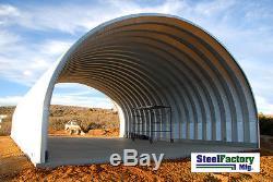 Usine Sidérurgique Préfabriquée De Bâtiment De Stockage De Couverture D'arche En Métal S30x50x17 De Rf